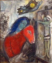 Marc Chagall Self Portrait With Clock 1947 Oil On Canvas 33 7 8 X 27 In Private Collection C 2013 Artists Rights Society ARS New York ADAGP